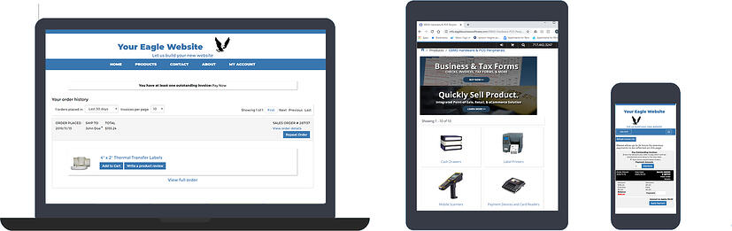 Online shopping with EBMS