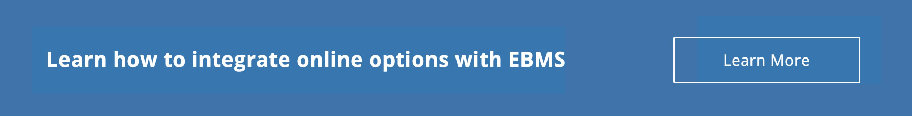 Integrate online options with EBMS
